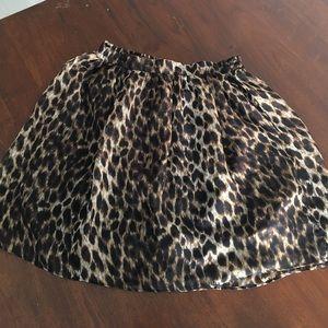 Wet Seal Cheetah Print Mini Skirt
