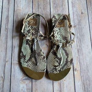 DV by Dolce Vita snakeskin gold metal sandals