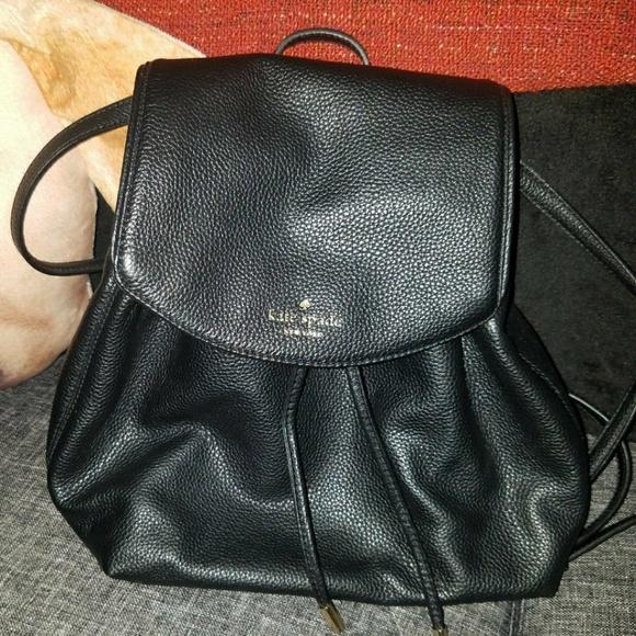937fed3f98b Bags   Kate Spade Black Leather Backpack   Poshmark