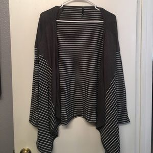Gray & White striped Love Culture cardigan