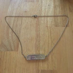 Gold miss me necklace with two sides!