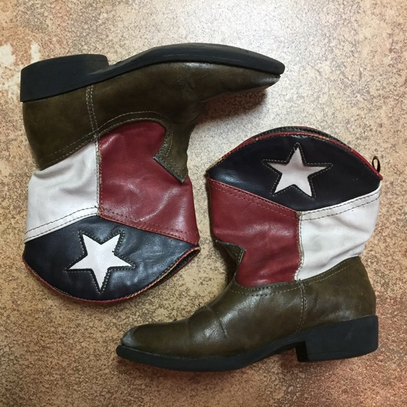 92d7e73cf healthtex Shoes | Kids Texas Flag Cowboy Boots Sz 10 | Poshmark