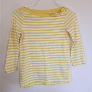 Kate Spade yellow Devon striped top