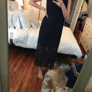 Zara Black Dress with sheer overlay
