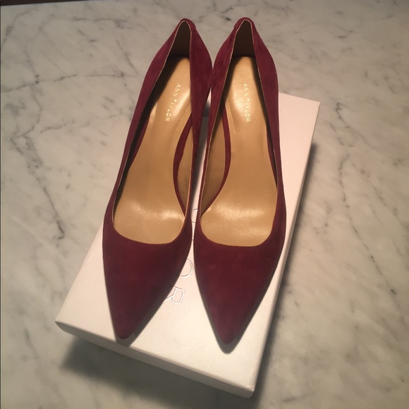 1017e57a8ea Ann Taylor Shoes - Ann Taylor Eryn Suede Kitten Pumps-boxed-worn once