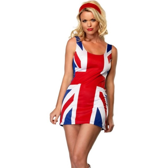 british flag ginger spice halloween costume