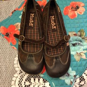 Cute Brown Mary Jane flats by Mudd sz 7.5