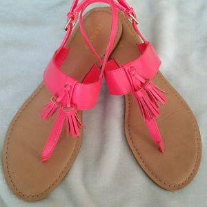 Old Navy bright coral sandals