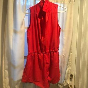 Red boutique Romper