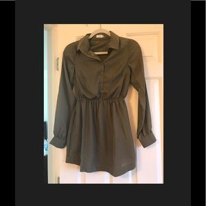 Button down shirtdress