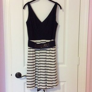 A-line dress with pleated skirt