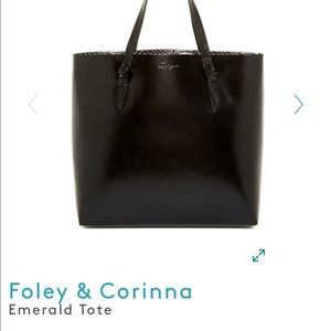 Foley & Corinna Emerald Tote Bag Black Leather