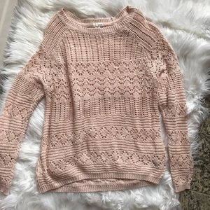 Garage Open Stitched Pullover Sweater