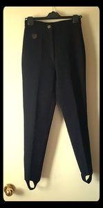 Black pants with stirup