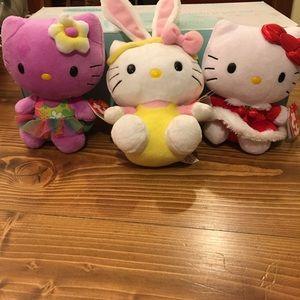 Hello Kitty TY Beanie bundle