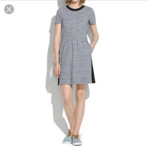 Madewell Parkline dress black/heather colorblock