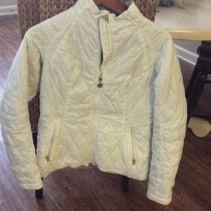 NIKE Women's white poly jacket! New w/o tags. Med