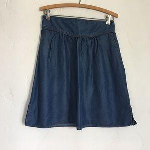 Zara denim skirt large