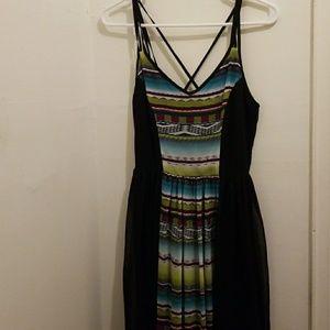 BNWT Black Chiffon Maxi Dress - Size XS
