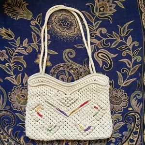 Handbags - Vintage Crocheted Cotton Purse