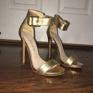 Gold Cathy jean heels