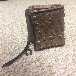 Rose Gold Betsy Johnson  Leather Wallet