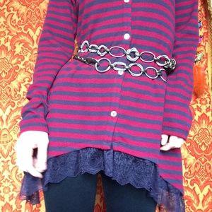 Brassy Spring Wrap Hook Chain Gypsy Jingle Belt