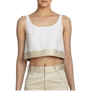 rag & bone silk crop top