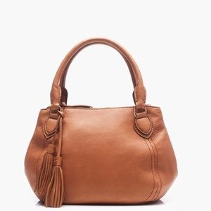 J. Crew Peyton Satchel crossbody bag leather hobo!