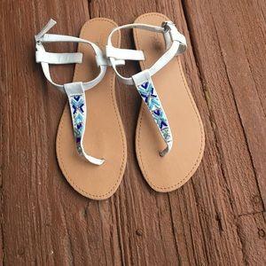 Cute beaded sandals!