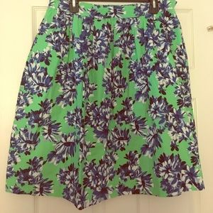 J.Crew A-Line floral skirt with pockets