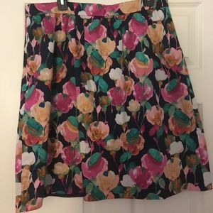 J.Crew abstract floral skirt