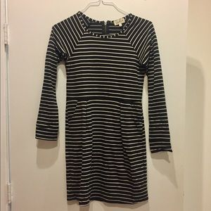 Anthropologie Stripe Long Sleeve Dress | Size XS