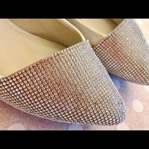 Aldo flat sandal flat heel sparkle montagne silver