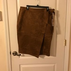 Faux Suede Ivanka Trump Skirt NWT Size 14