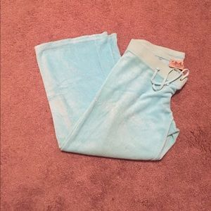 Teal Terry Cloth Juicy Couture Capri
