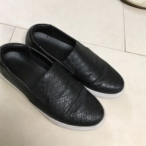 Black leather slip ons (Kenneth Cole)
