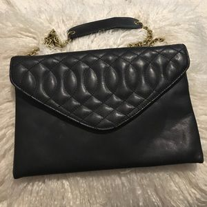 J Crew quilted leather purse