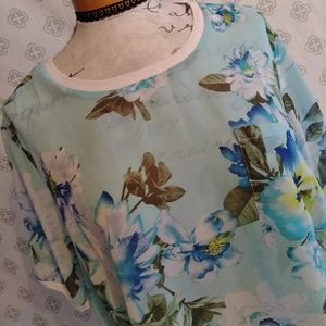 Women Within Flower Sheer Tshirt