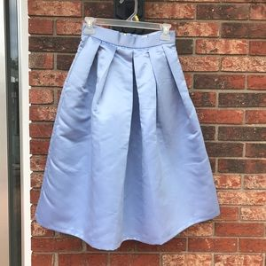 Closet London Full Pleated Sateen Midi Skirt