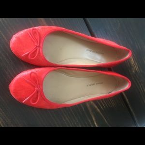 Banana Republic Calf Hair Ballet Flats