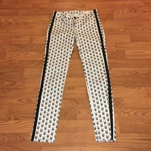 Rag and Bone Arrow Print Skinny Jeans