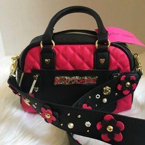 Adorable Guitar Strap Mini Betsey Johnson Bag