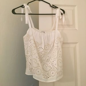 Anthropologie cropped Lace top