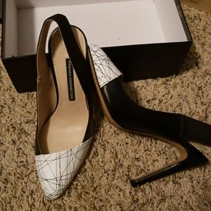 8.5 French connection slingbacks new