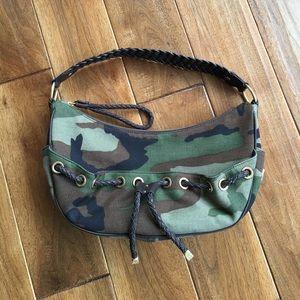 Michael Kors camoflauge canvas & leather handbag