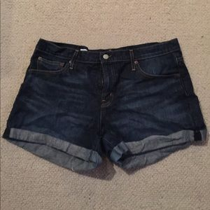 Gap rolled jean shorts