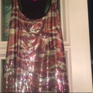 Betsey Johnson sequined tank dress