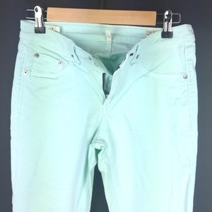 Mint Rag & Bone Skinny Zip Crop Jeans