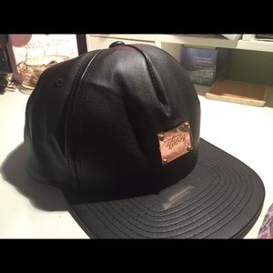 Stussy Leather Flat Brim SnapBack